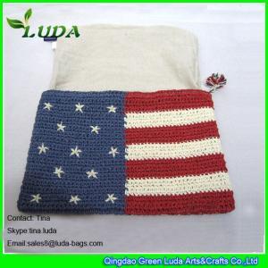 Cheap cheap unique purses crochet paper straw floral handbags for sale