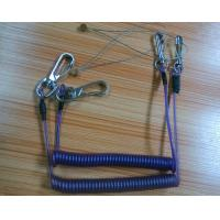 China Heavy trigger snap wire tool coil lanyard tethers good economical stop-drop fasteners on sale