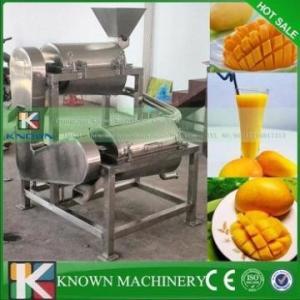 Cheap High quality mango juice extractor machine/mango juice processing machine fruit pulper carbon steel pan for sale