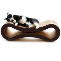 Cheap Glossy Film Lamination Cardboard Cat Scratcher / Beds With Custom Logo Printed for sale