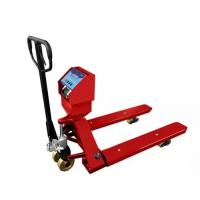 Cheap Red Hand Operated Pallet Truck Scales 1.5T 2T 3T Carbon Steel For Food Industry for sale