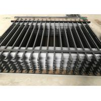 Buy cheap 25mm*25mm picket Spear top black steel fence from wholesalers