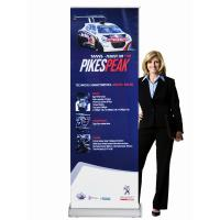 Cheap Classic Rolla Retractable Display Banners Including Printed banner and Aluminum Base for sale