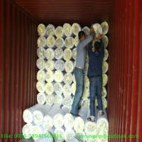 Cheap 16kg/m3 25mm Glass wool blanket with Aluum. foil/Glass wool for sale