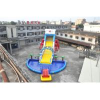 Cheap 0.55mm PVC Tarpaulin Giant Inflatable Slide For Kids , 1 - 3 Years Warranty for sale