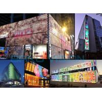 Cheap RGB Glass Wall LED Curtain Display High Transparency IP67 160 Degree 1R1G1B for sale