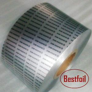 China 0.02mm hard temper pharmaceutical aluminum blister foil for tablets capsules pills Printed / unprinted blister foil on sale