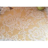 Cheap Embroidered Floral Sequin Netting Fabric , Sequin Tulle Fabric For Ivory Wedding Dresses for sale