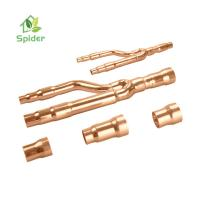 Cheap Industrial Split Ac Fitting , Copper / Aluminum Refnet Branch Piping Kit for sale