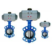 Cheap Flange / Wafer Type Butterfly Valve Actuator Pneumatic Operated DN40 ~ DN600 for sale