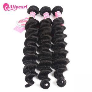 Cheap Loose Deep Wave Real Brazilian Hair Bundles , Curly Human Hair Weave for sale