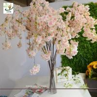 China UVG CHR129 pink fake cherry blossom tree decorative branches for wedding table decoration on sale