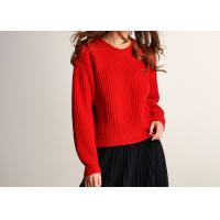 Cheap Lady Joyous Chinese Red Crew Neck Winter Jumper for sale
