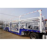 Cheap 25 tons 2 axle car hauler auto transport trailer To carry 9 BMW SUV for sale