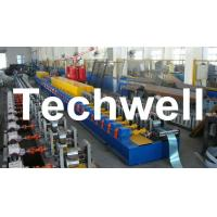 Cheap High Quality PU Foam Rolling Door Slat Roll Forming Machine With Flying Saw Tracking Cut for sale