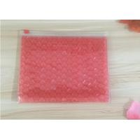 Cheap 0.06-0.1mm Thickness PVC Bubble Bag / Reusable Mailer Plastic Zipper Bag for sale
