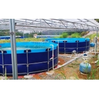 Cheap 50000L Flexible Foldable 0.9mm PVC Tarpaulin Fish Tank for sale