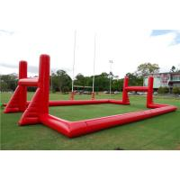Cheap Mobile Blow Up Rugby Field Inflatable Sports Games With Air Blower for sale