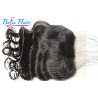Cheap Smooth Natural Black Malaysian Real Human Hair Closure Loose Wave for sale