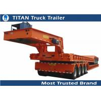 Cheap Professtional detachable gooseneck lowboy trailers with Hydraulic system for sale