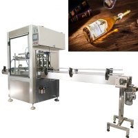 China Cork ROPP Cap Vodka Wine Glass Bottle Filling And Capping Machine on sale