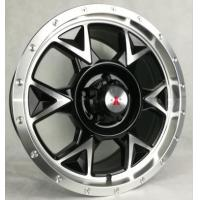 China 17 Inch Black Off Road Rims with Machined Face 4x4 Aftermarket Truck Wheels Made of Aluminum on sale