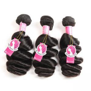 Cheap Loose Wave Brazilian Human Hair Bundles Deals , Brazilian Wave Hair Extensions for sale