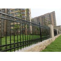 Quality Iron Decorative Wire Fencing  Plastic / Concrete Feet Hot - Dipped Galvanized for sale