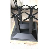 Cheap OEM Rectangle Cast Iron Table Base 4person Dining Table Base Black powder coat for sale