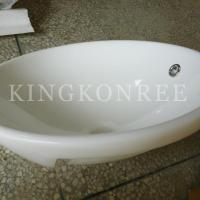 China artificial marble single bathroom sink and basin on sale