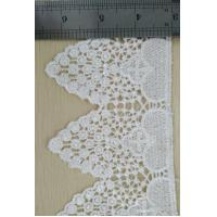 Cheap Poly Trims Soft Big Flower Decorative Lace Trim White In Qmilch for sale