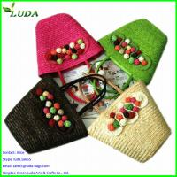 Cheap Promotional cheap wheat straw beach bags for sale