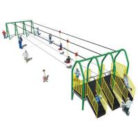 Cheap ISO9001 Preschool Playground Equipment , Kindergarten Aerial Zip Line Equipment for sale