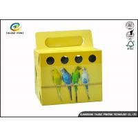 Cheap Colorful Printing Cardboard Gift Boxes Foldable Space Saving For Birds for sale