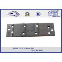Quality QT500-7 Steel Rail Base Plate , Metal Tie Plate For UIC DIN Standard Railway wholesale