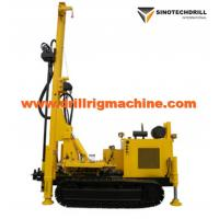 Cheap Rotary Drill Rig Machine For Water Well , Crawler Drilling Rig Geothermal Air Conditioner Hole wholesale