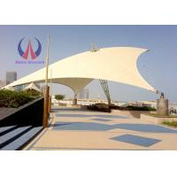Cheap Weather Proof Tensile Fabric Structures Fabric Roofing Systems Long Span Steel Rope Stressed for sale