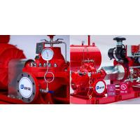 Cheap Red High Pressure Fire Fighting Pumps / Hospitals Diesel Fire Pump Package for sale