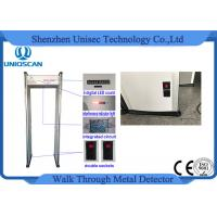 Cheap CE/ISO certificated LED screen with High density material walk through metal detector wholesale