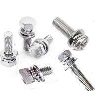 Cheap Hex Head Cylinder Head M4 M6 Stainless Steel Sems Screws By Internal Tooth Washer for sale