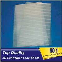 Cheap Plastic Lenticular super transparent thin161lpi 0.25mm PET 3d lenticular lens plastic sheet film for UV offset prining for sale