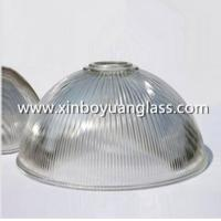 Cheap Ribbed glass industrial pendant light shades for sale