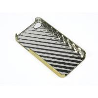 Cheap Wave design shiny coating iphone protective case with hard plastic shell For iPhone 4 for sale