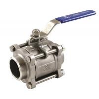 Cheap 3PC ball valves stainless steel threaded/socket weld/butt weld connection for sale