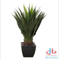 Cheap Silk / Plastic Artificial Green Plants Musa Basjoo Plant Pot For Hotel And Plaza for sale
