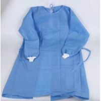 Cheap Blue One Piece Hospital Isolation Gown Good Toughness High Durability Not Easy Aging for sale