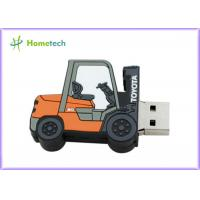 Cheap Forklift Style 64g Customized Usb Flash Drive / Pen Drive Usb 2.0 Support Windows ME / XP wholesale