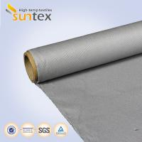 Cheap Thermal Isulating Materials PU Coated Fiberglass Fabric 0.65mm M0 For Welding Protection Fireproof Blanket for sale