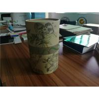 Cheap SGS Cardboard Food Packaging Boxes , 230 GSM Kraft Paper Cylinder Box Packaging For Tea wholesale