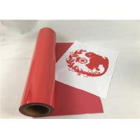 Cheap Hot Press PU Heat Transfer Vinyl Red Color Excellent Tensile For T - Shirt for sale